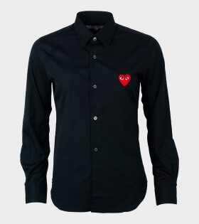Comme des Garcons PLAY - W Red Heart Shirt Black