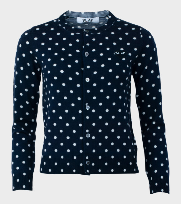 Comme des Garcons PLAY - W Dots Cardigan Navy