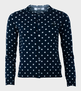 W Dots Cardigan Navy