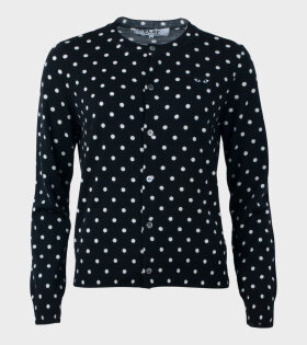 W Dots Cardigan Black