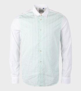 Paul Smith - Gents S/C Slim Shirt Green/White