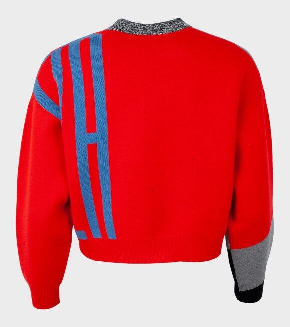 Proenza Schouler - L/S Knit Crewneck Red Combo