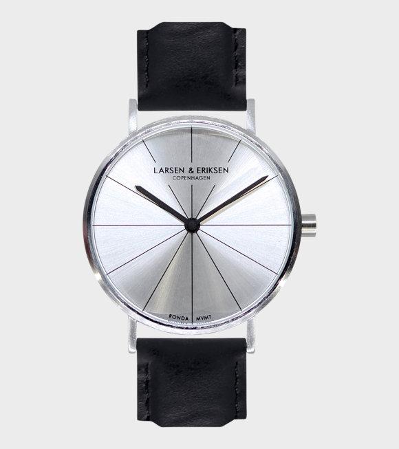Larsen & Eriksen - Silver/Silver/Black Watch 37mm