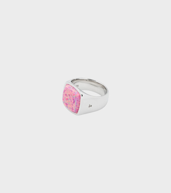 Tom Wood - Cushion Opal Ring Pink