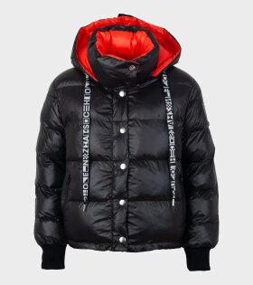 Proenza Schouler - Short Coat Puffer Nylon Black/Red