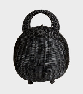 Millie Rattan Bag Black