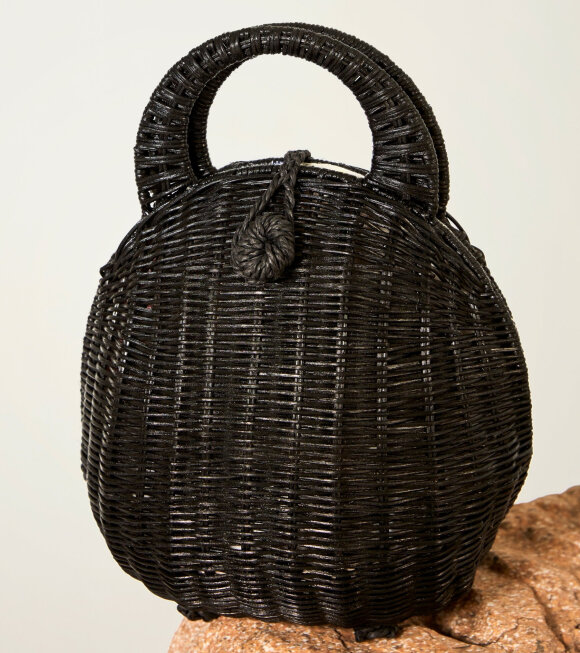 Cult Gaia - Millie Rattan Bag Black