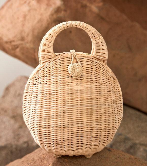 Cult Gaia - Millie Rattan Bag Natural