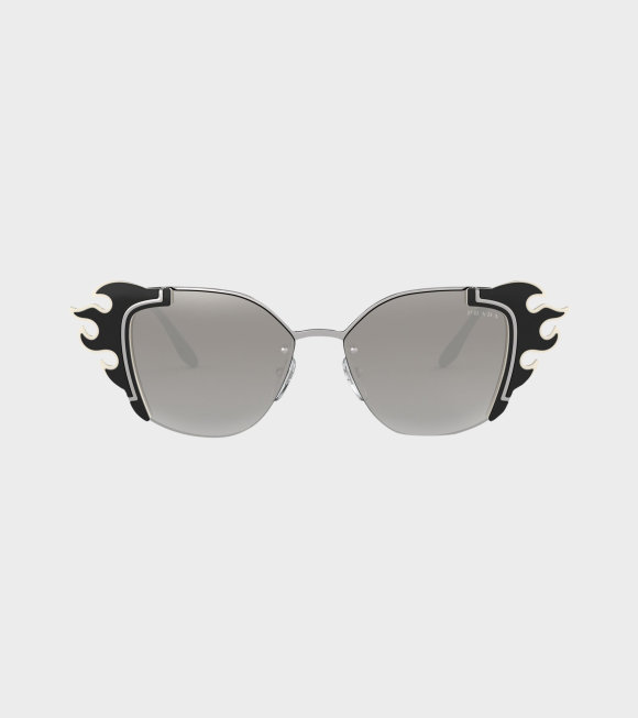 PRADA eyewear - Ornate Flames Sunglasses Black/White