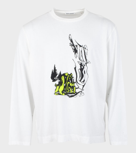 Our Legacy - Box L/S NP Psychadelic Hunt Print White