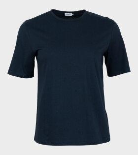 Filippa K - Organic Cotton T-shirt Navy
