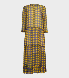 Alexondra Dress Golden Blue Check