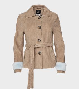 Etheline Baby Cord Jacket Safari/Blue