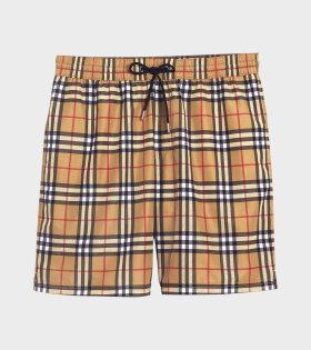 Check Drawcord Shorts