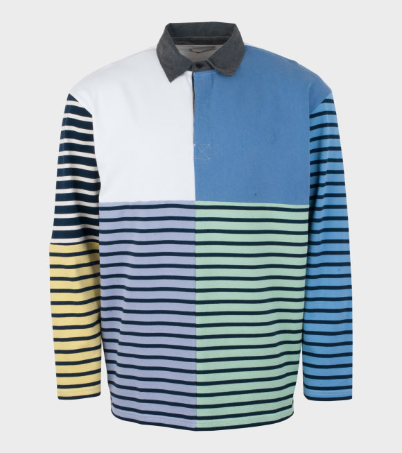 JW Anderson - Patchwork Rugby Jersey L/S Shirt Blue