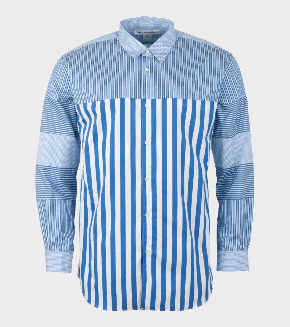Comme des Garcons Shirt - Striped Felt Shirt Blue/White