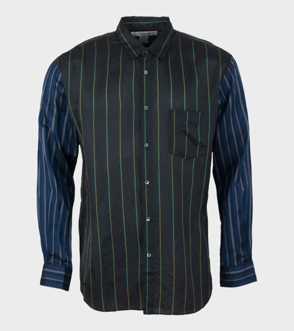 Comme des Garcons Shirt - Dark Shirt W Stripes Brown Multi
