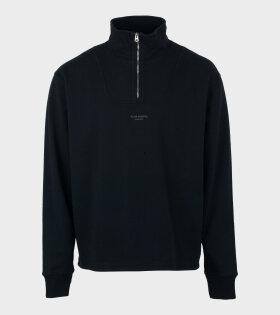 Acne Studios - Zippered Polo Sweatshirt Black