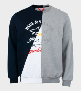 Nick Wooster X Paul & Shark - Paul & Shark Sweatshirt Navy/Grey