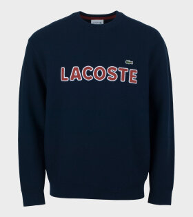 Lacoste Heavy Logo Knit Navy AH3390 00 883 - dr. Adams