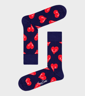 Happy Socks Smiley Heart Sock Navy - dr. Adams