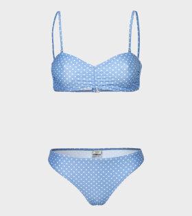 Mads Nørgaard  - Binna Bikini Light Blue/White Dot