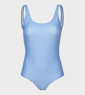 Mads Nørgaard  - Saline Swimsuit Light Blue/White Dot