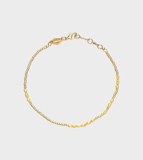 Anni Lu - Asym Pearl Bracelet Yellow Cream