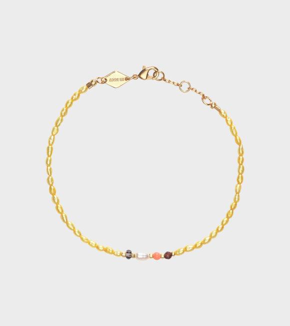 Anni Lu - Rice & Shine Bracelet Yellow Cream