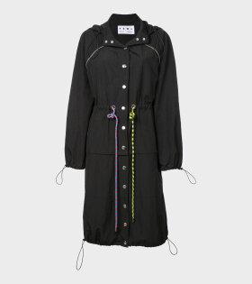 Drawstring Coat Black