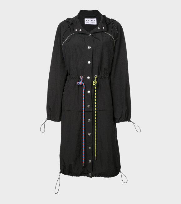 Proenza Schouler - Drawstring Coat Black