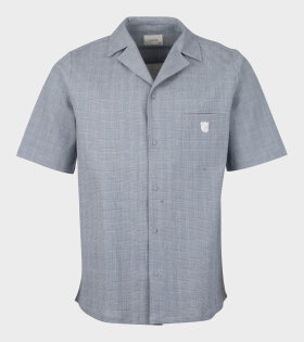 Tonsure - Bowling Short Sleeve Shirt Teddy Logo Grey