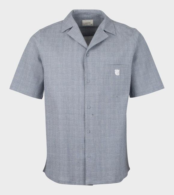Tonsure - Bowling Short Sleeve Shirt Teddy Logo Grey