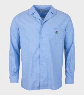 Tonsure - Bowling L/S Shirt Teddy Logo Blue
