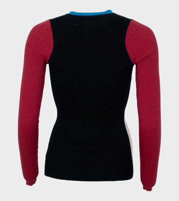 Proenza Schouler - L/S Knit Top W Buttons Multi