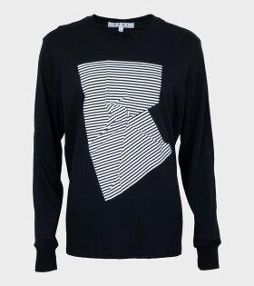 L/S T-shirt Black/White