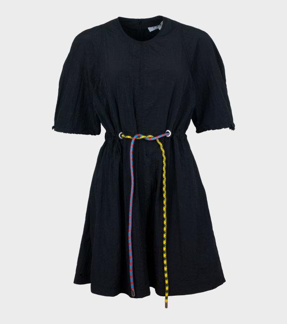 Proenza Schouler - Tie Wrap Short Dress Black