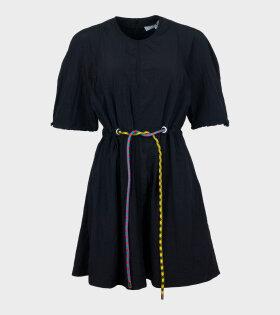 Tie Wrap Short Dress Black