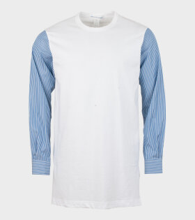 Comme des Garcons Shirt - Longsleeved Tee/shirt White/Blue