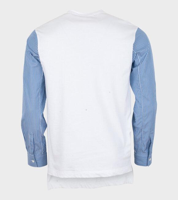 Comme des Garcons Shirt - Longsleeved Tee/shirt White/Blue
