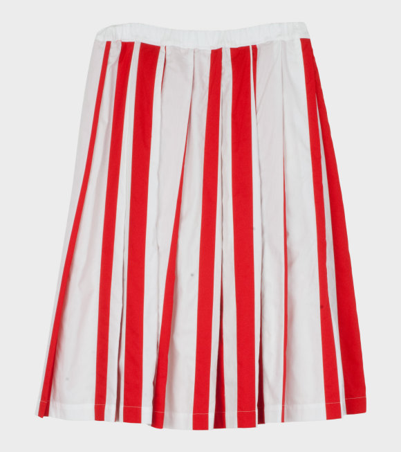Comme des Garcons Girl - Striped Skirt Red/White