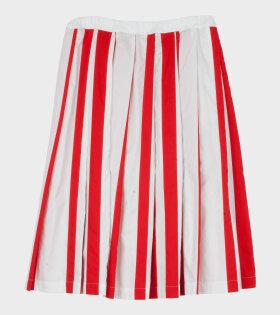 Striped Skirt Red/White