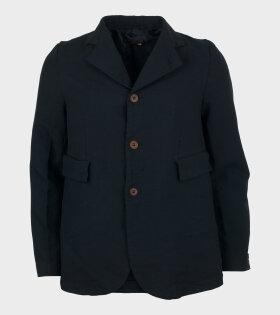 Retro Basic Blazer Black