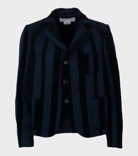 Striped Blazer Navy/Black