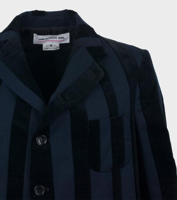 Comme des Garcons Girl - Striped Blazer Navy/Black