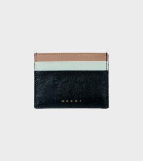 Vanitosi Cardholder Black/Mint/Beige