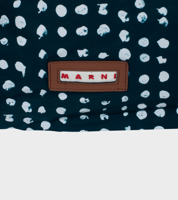 Marni - Pochette Mini Toté Blue/White Dots