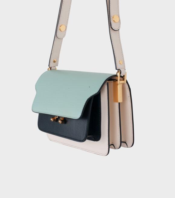 Marni - Mini Trunk Bag Mint/Black/Cream