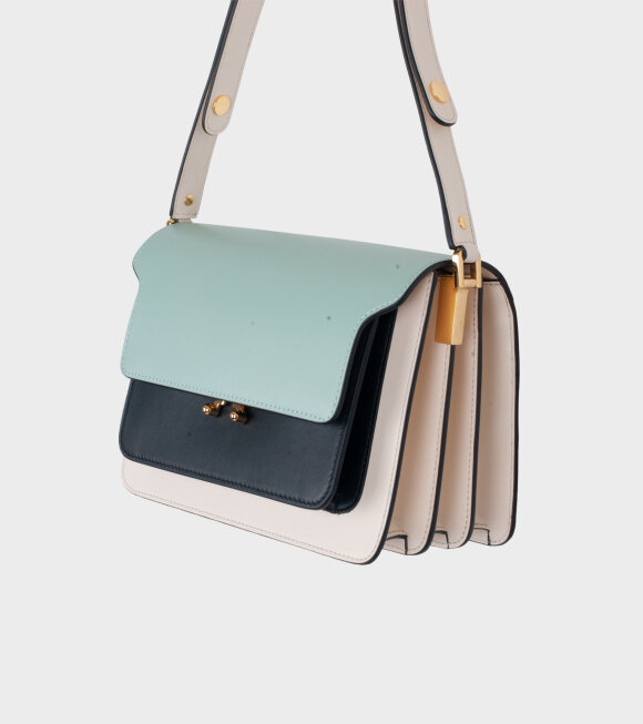 Marni - Medium Trunk Bag Mint/Black/Cream