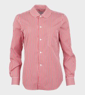 Ladies Shirt Red/White